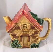 Vintage - Made in Japan Ceramic Cottage House Shaped Tea Pot - Handpainted - $19.59