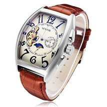 Sewor Men's Tourbillon Steampunk self automatic mechanical watch  Brown ... - $47.99