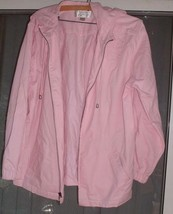 Christopher & Banks Hooded Zippered Jacket Pink Womans Size L - $10.00