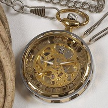 antique hand-wound mechanical pocket watch gear case Gold from JAPAN - $54.09