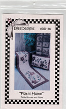 "Table Runner and Pillow ""Floral Home"" Disa Designs #DD116 - $7.95"