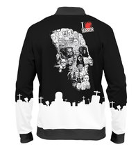 "Fashion Mens Full Printed 3D Bomber Jacket All Sizes XS - 5XL ""Horror"" - $59.95"