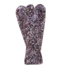 Ruby in Tourmaline Mini Pocket 50MM Gemstone Guardian Angel w/ Free Carr... - $20.00