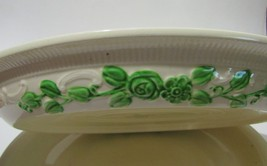 HLC Homer Laughlin Oven Serve Platters Ivory and Green - $19.00