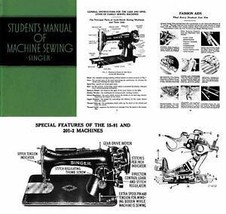 Singer Student Featherlight Sewing Machine Manual 1939 - $14.99