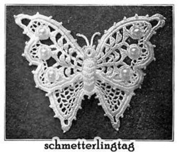 Vintage Irish Crochet Book Butterfly Embellishment 1912 - $14.99
