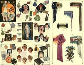 Millinery Flapper Era Hat Ribbon Work  DIY CD Book 1925 - $14.99
