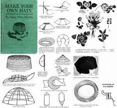 Millinery Book Hat Making How to Make Flapper Hats 1921 - $14.99