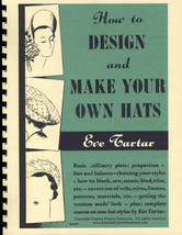 Millinery Book Hat Making How Design Hats TARTAR 1950s - $14.99