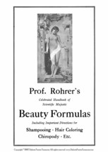 Hair Care Book Gibson Beautician Recipes 1915 Rohrer Formulas Skin Shampoos Dyes - $14.99