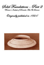 Millinery Book Make Hat Frames Foundations Hats 1921 #2 - $14.99