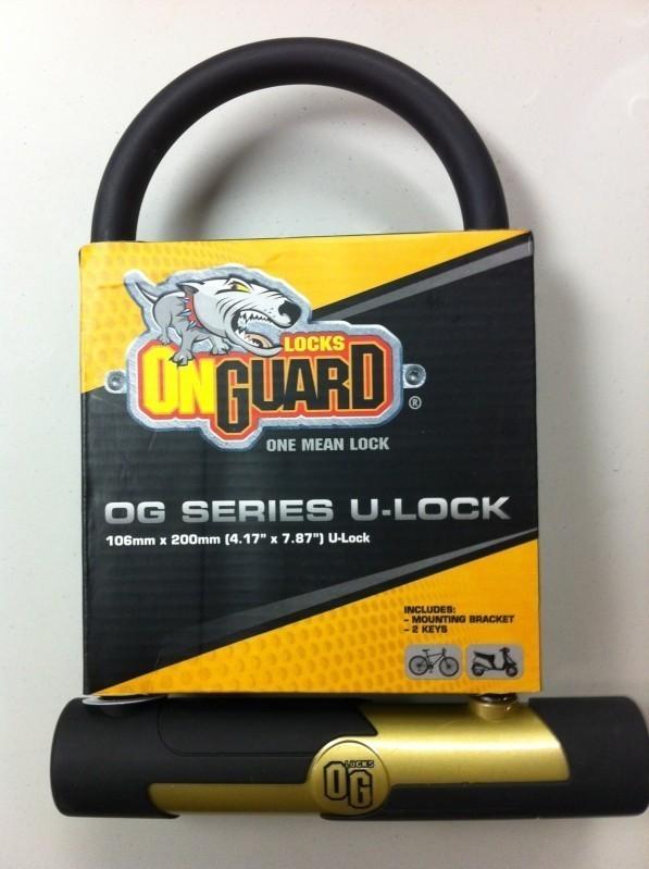 og onguard series bike u lock 4 x8 5516 2 keys quick release mounting bracket bike locks. Black Bedroom Furniture Sets. Home Design Ideas