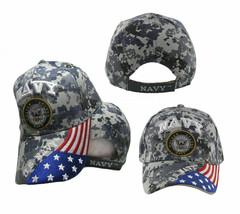 US Navy Seal Hat Patriotic USA Flag Blue ACU Digital Camo Embroidered Cap - $21.77