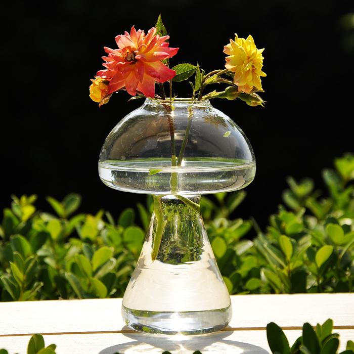 Mushroom Shape Hydroponic Plants Flower Glass Vase Home