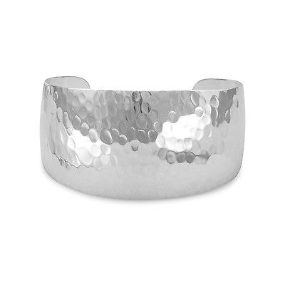 Tapered Hammered Cuff  Sterling Silver