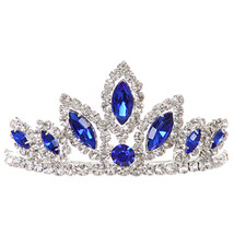 "Royal Dazzling Stoned 3' X 1.5"" Tiara Bridesmaid Birthday Party Prom Flower Girl - $12.99"