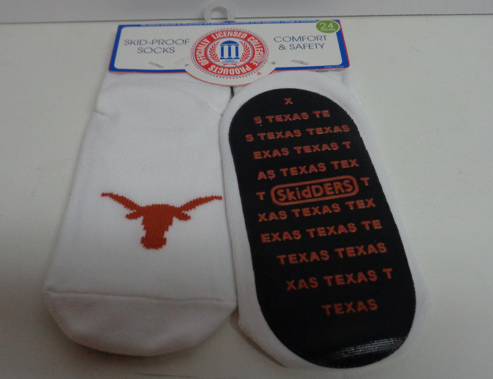Skidders Toddlers No Skid Texas Long Horn Socks NWT Sz 24 Months
