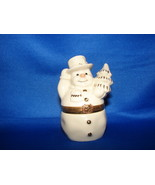 Lenox Treasures Snowman Surprise Hinged Trinket Box Gift - $8.95