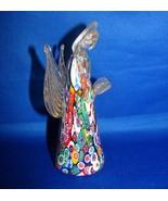 Murano Millefiori Art Glass Angel Figurine La Serenissima Italy Gold Ave... - $79.99