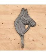 Set of 2 Cast Iron Horse Head Single Wall Mount Hook Western Decor - $6.92