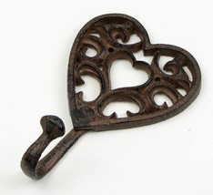 Cast Iron Heart Single Wall Mount Hook  - $7.91