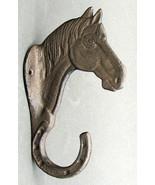 Cast Iron Heavy Horse Head Single Wall Mount Hook Western Decor - $10.88