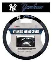 NEW YORK YANKEES MESH SUEDE CAR STEERING WHEEL COVER MLB BASEBALL - $18.60