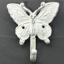 Cast Iron Butterfly Single Wall Mount Hook - $5.93