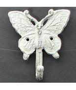 Cast Iron Butterfly Single Wall Mount Hook - $5.93