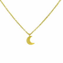 Dainty Gold Crescent Moon Necklace, Tiny Half Moon Necklace, Gift for Her - $16.85