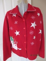 Take Two Snowman Christmas Jacket Medium - $14.99