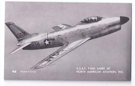 USAF Sabre Jet F-86D North American Aviation Vintage Mutoscope Postcard ... - $4.99