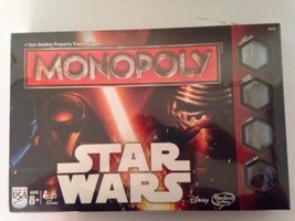 NEW SEALED STAR WARS MONOPOLY BOARD GAME DISNEY / HASBRO TOYS - $23.38