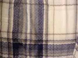 NEW Plaid Navy Blue Gray White Beige Blanket Scarf Wrap image 2