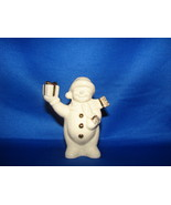 Snowman Holding Up Present - Boxed in Lenox Christmas Figurine by Lenox  - $6.00