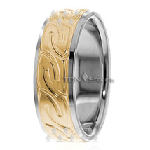 10K Gold 7mm Celtic Knot Wedding Bands Ring Mens Womens Celtic Wedding B... - $494.03