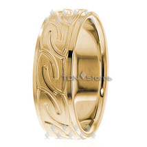 14K Gold 7mm Celtic Knot Wedding Bands Ring Mens Womens Celtic Wedding B... - $612.98