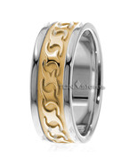 14K Solid Gold 8mm Mens Celtic Wedding Bands Rings Mens Celtic Wedding B... - $704.49
