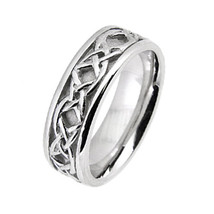 18K Gold Mens Womens Celtic Wedding Band Rings Celtic Wedding Bands Ring... - $677.04