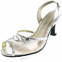 BETTIE PAGE High Heels Shoes Clear Peep Toe Sli... - $72.95