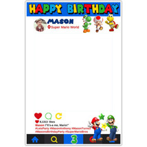 Super Mario Brothers Selfie Frame Photo Booth Prop Poster - $16.34+