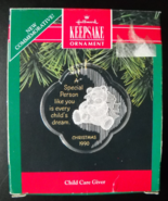 Hallmak Keepsake Christmas Ornament 1990 Child Care Giver First in Serie... - $5.99