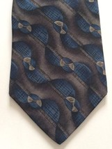 Van Heusen Silk Neck Tie Blue Black Grey - $8.86