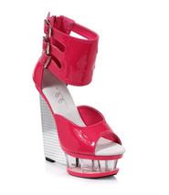 ELLIE SHOES Open Toe Triple Ankle Strap Buckle ... - $79.95