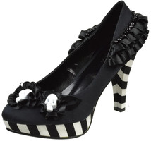 ELLIE SHOES Platform Pump Flower Skull Center D... - $80.95