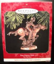 Hallmark Keepsake Christmas Ornament 1998 Pony Express Rider First in Ol... - $7.99