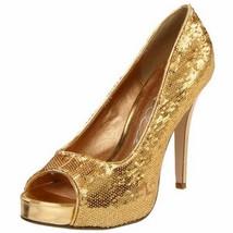 ELLIE Shoes Open Toe Pumps Sequins 415-FLAMINGO... - $35.95