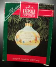Hallmark Keepsake Christmas Ornament 1992 Betsey's Country Christmas New... - $7.99