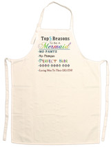 Unisex Adult Top 5 Reasons to be a Mermaid Adjustable Apron - $14.95
