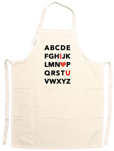 Unisex Adult Alphabet I Heart U Cute Adjustable Apron - $15.95